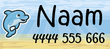 My Nametags sticker name label dolphin desing