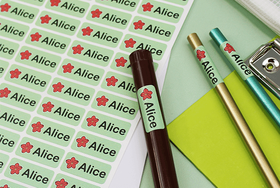 My Nametags Colour Stickers for stationery